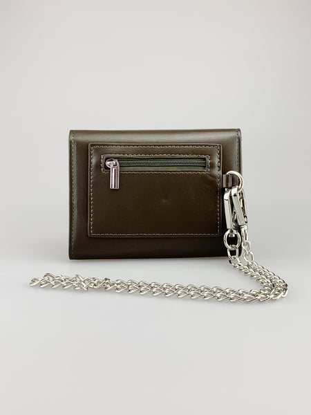 Castor Khaki Wallet with Chain Clasp