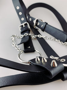 Black Harness with Spikes