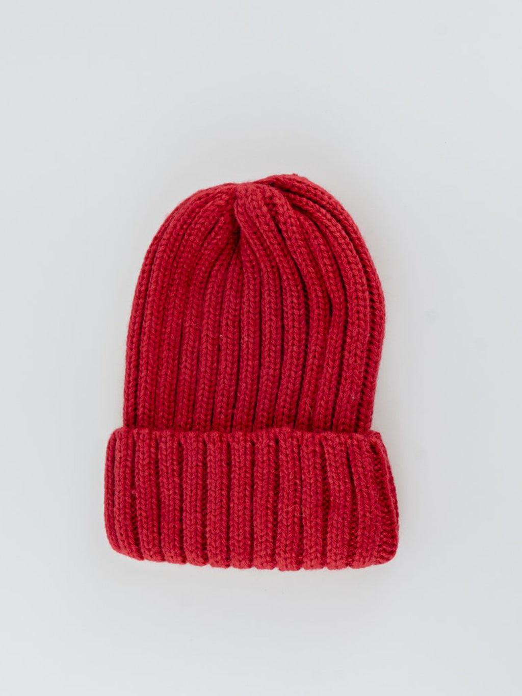 RIBBED RED BEANIE HAT - svnx