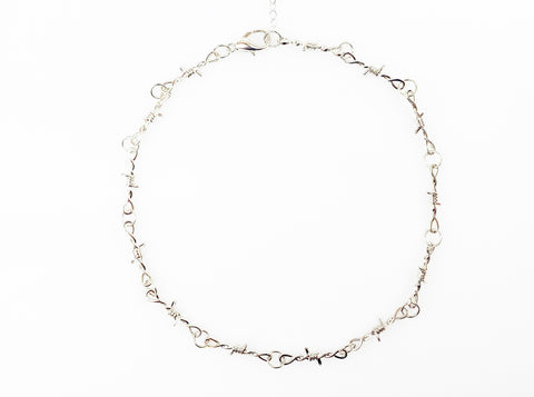 BARBED WIRE KNOT NECKLACE