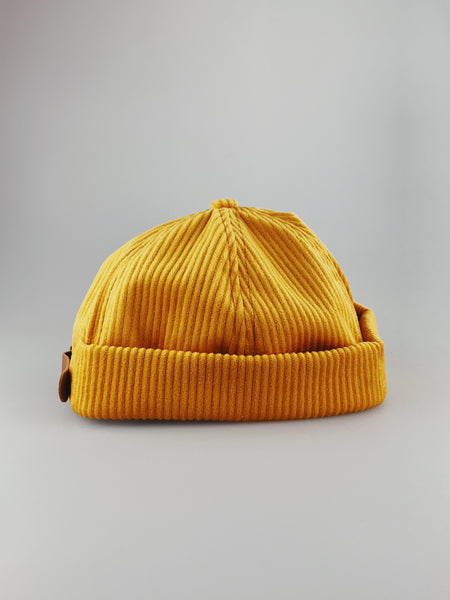 Yellow Cord Miki Hat