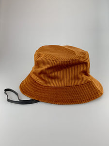Brown Cord Bucket Hat