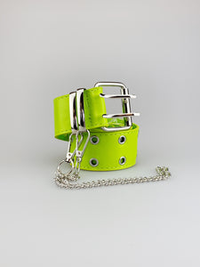 Jayla Lime Green PU Belt