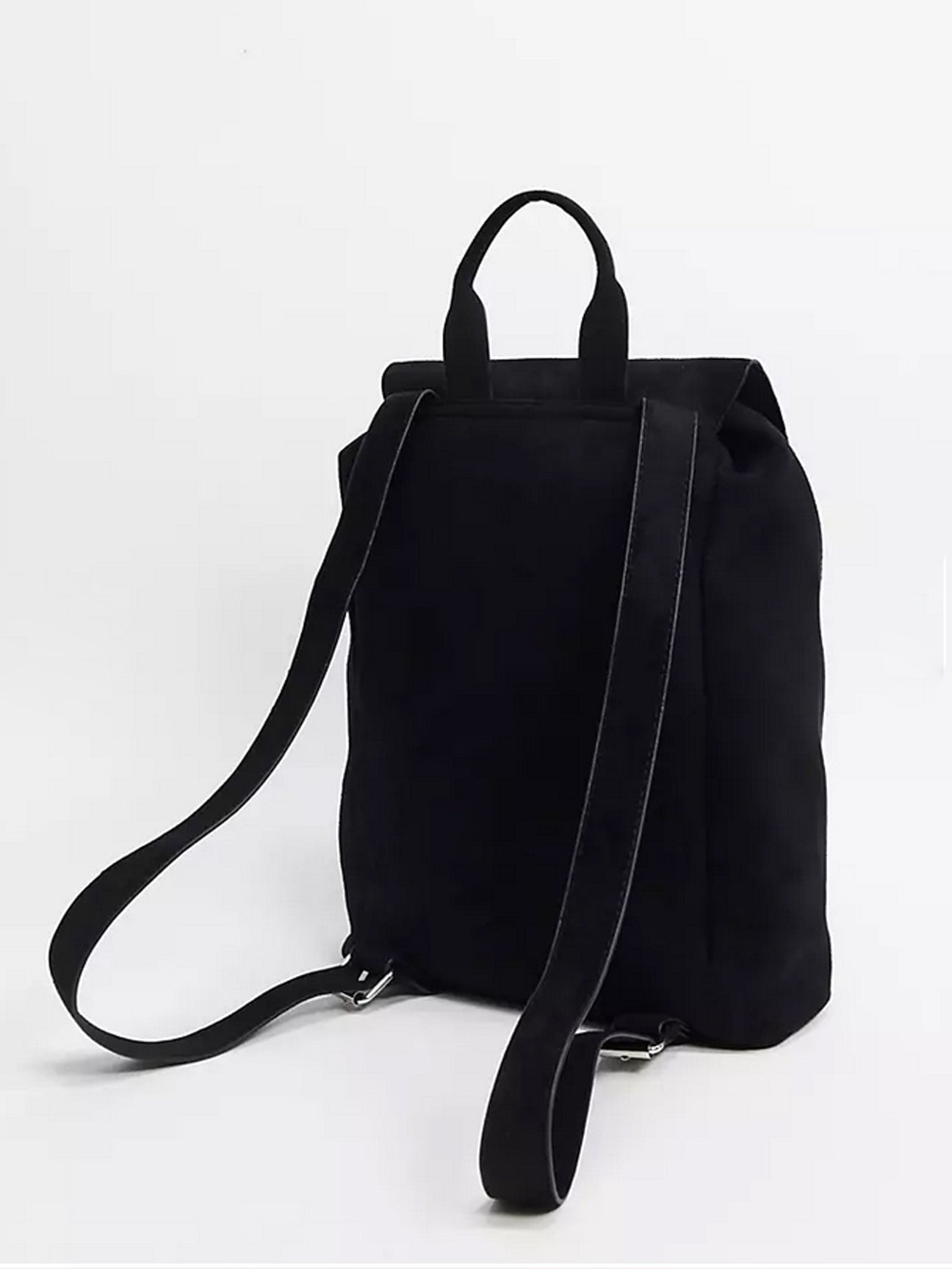 BLACK SUEDE BACKPACK
