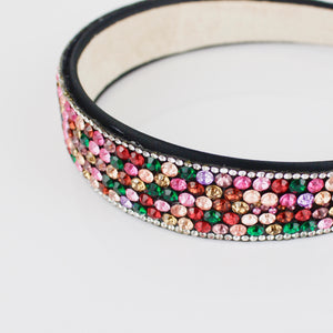 MULTI-COLOURED DIAMANTE HEADBAND - svnx