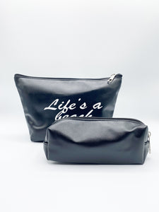 Polly 2 Pack Cosmetic Bags In Black