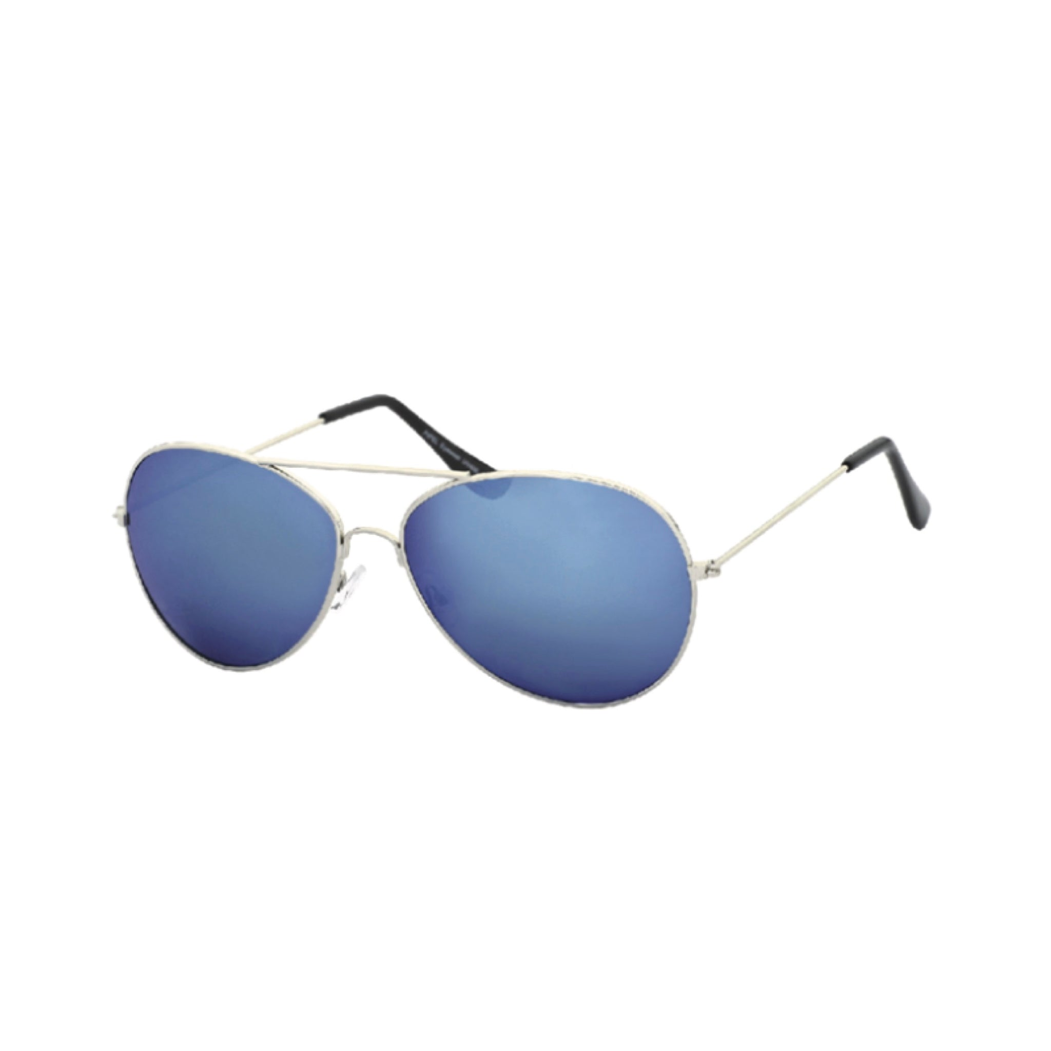 HIGH QUALITY CLASSIC BLUE MIRRORED AVIATOR SUNGLASSES - svnx