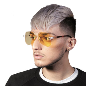 YELLOW EXAGGERATED SUNGLASSES - svnx