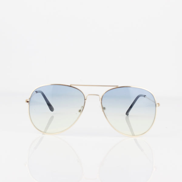 THIN GOLD FRAME AVIATOR SUNGLASSES - svnx