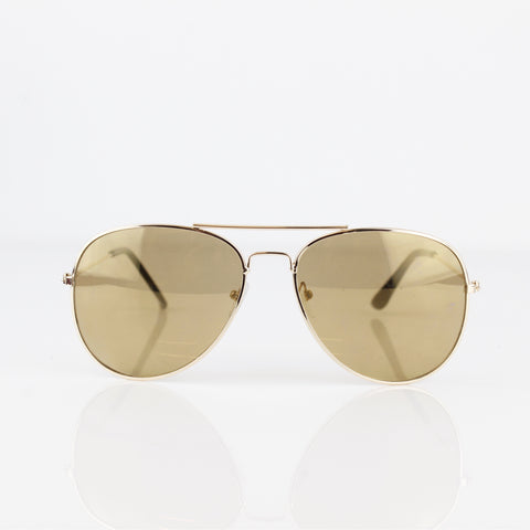 THIN GOLD FRAMED AVIATOR SUNGLASSES - svnx