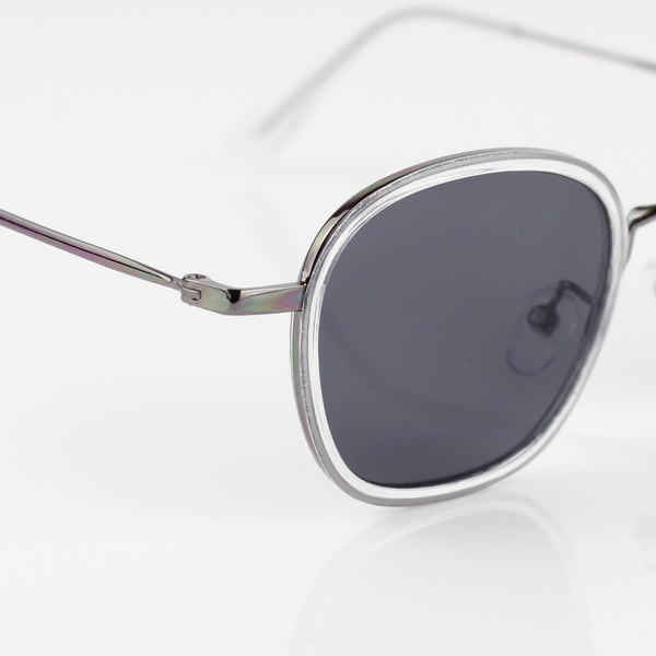 GUN METAL GREY FRAME WITH BLACK LENSES SUNGLASSES - svnx