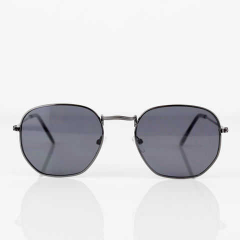 GUNMETAL GREY AVIATOR SUNGLASSES - svnx