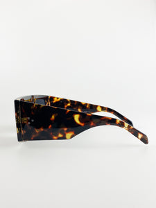 2 Pack Oversized Sunglasses In Black And Tortoise Shell