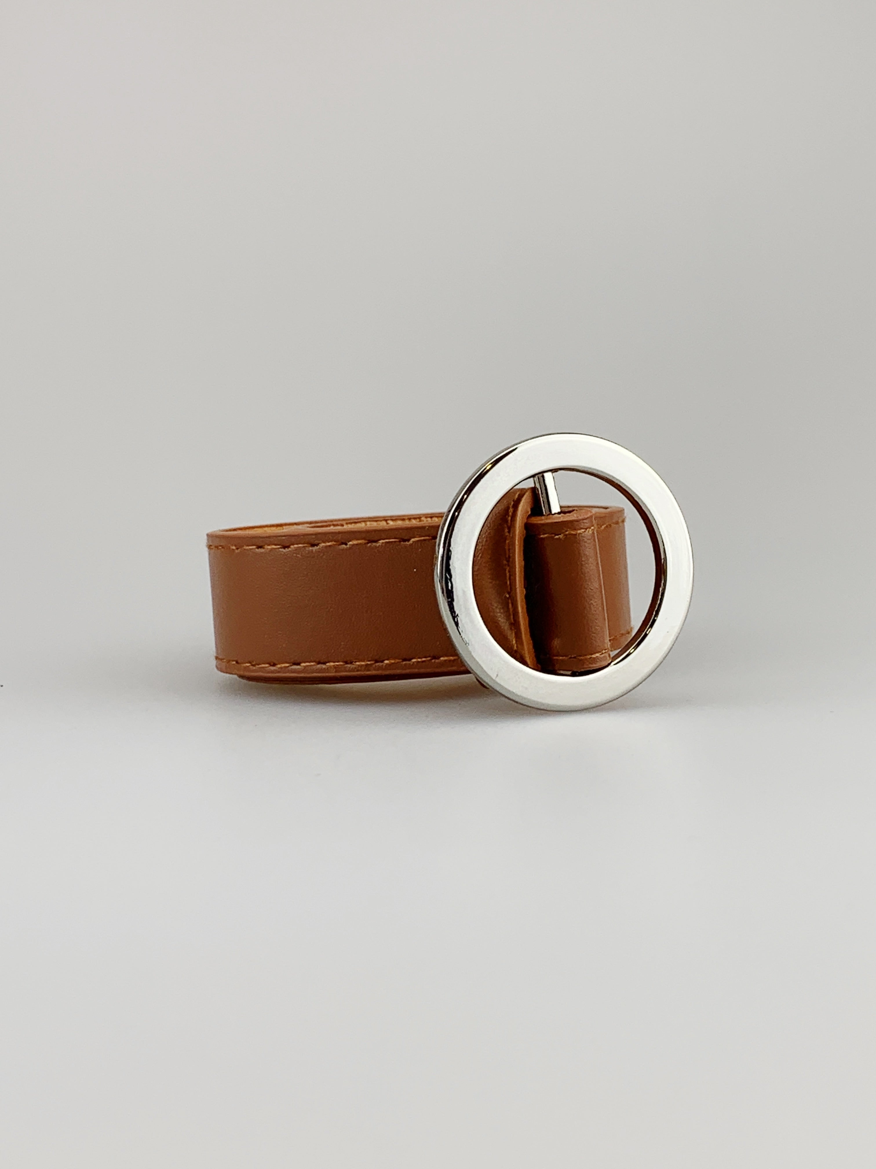Brown Circle Ring Buckle Belt