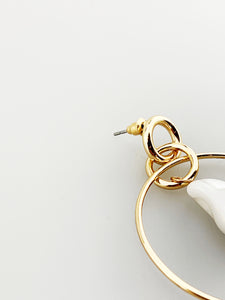 Hoop Earring with Pearl Drop