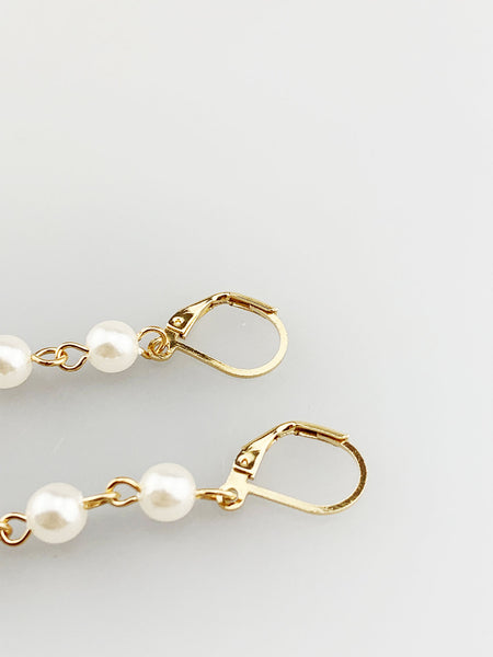 Pearl Drop Down Earrings
