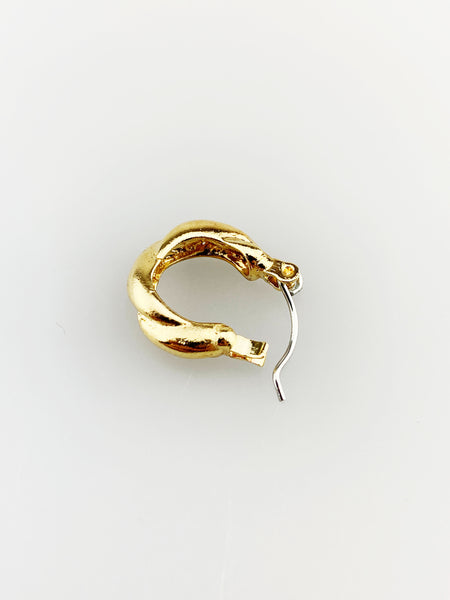 Hoop Earring with Twisted Texture
