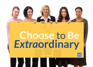 Choose to be Extraordinary - Individual Success Banner (3'x6')