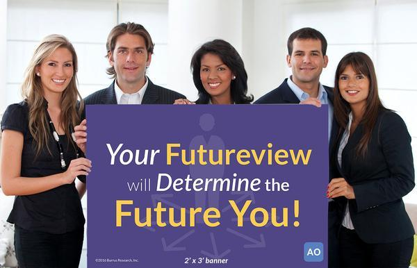 Your Futureview will Determine the Future You! - Individual Success Banner (2'x3')