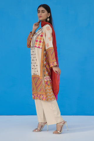 3PC Chiffon Lawn Embroidery LS19126