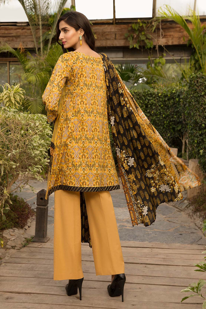 Warda Designer Collection - 3PC Lawn Chikan Kari 3820322