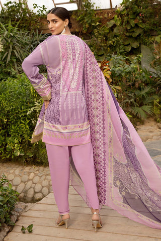 Warda Designer Collection - 3PC Lawn with Printed Dupatta (With Emb) With Chiffon 3820516