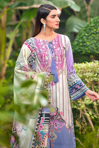 Warda Designer Collection - 2PC Lawn Embroidery- Trouser 250271A