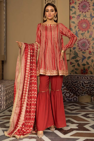 Warda Designer Collection - 3PC Lawn Print 3819217