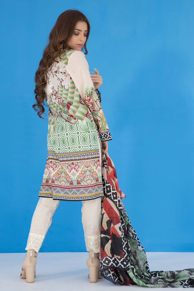3PC Print Embroidery LS19276