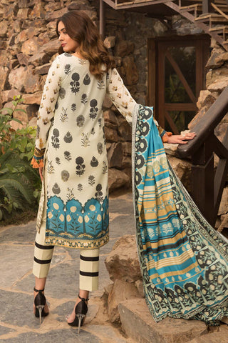 Warda Designer Collection - 3PC Jacquard with Digital Lawn Dupatta 3820283