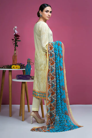 Warda Designer Collection - 3PC Chiffon Lawn Embroidery  3820249