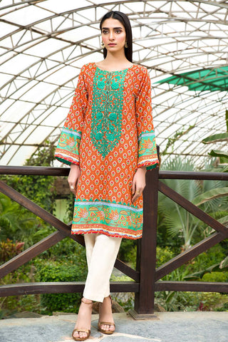 Warda Designer Collection - Single Shirt Lawn Embroidery- (2.5 Meter) 1320439