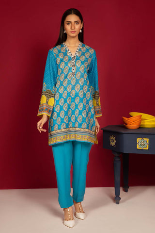 Warda Designer Collection - 2PC Lawn Print (Trouser) 1.75m Shirt 250108A