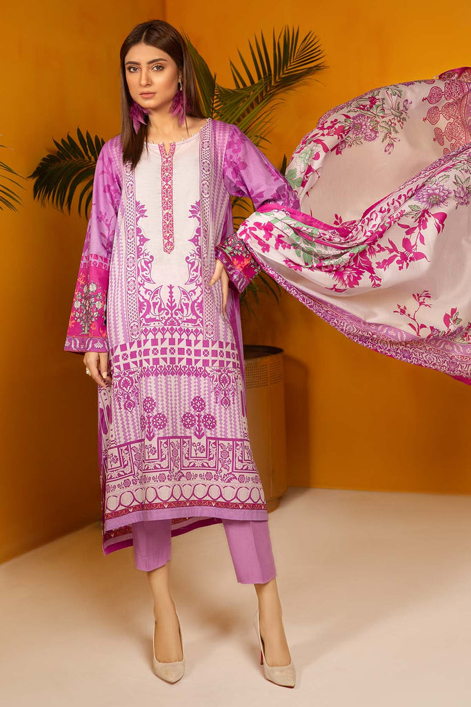 Warda Designer Collection - 3PC Lawn Print 3820183
