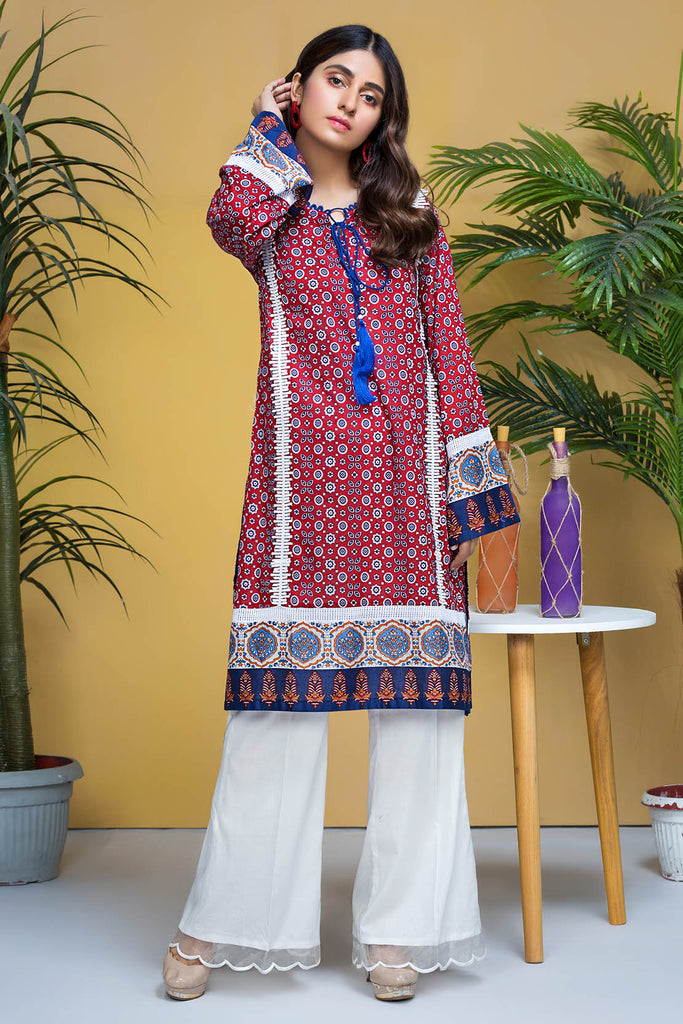 Warda Designer Collection - Single Shirt Lawn Print-Regular (2.5) 1320418