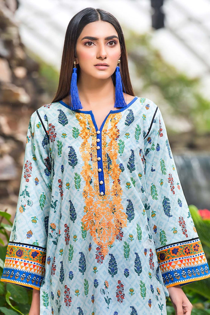 Warda Designer Collection - Single Shirt Lawn Embroidery- (2.5 Meter) 130438A