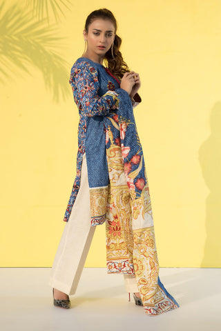 3PC Lawn Print Embroidery LS18318