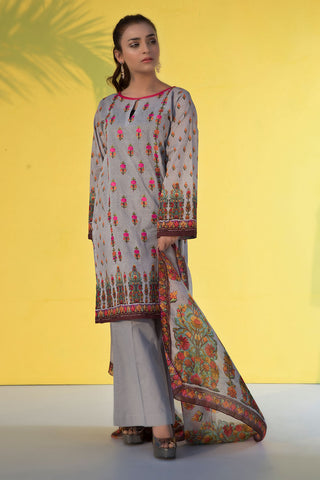 3PC Print Embroidery LS19272
