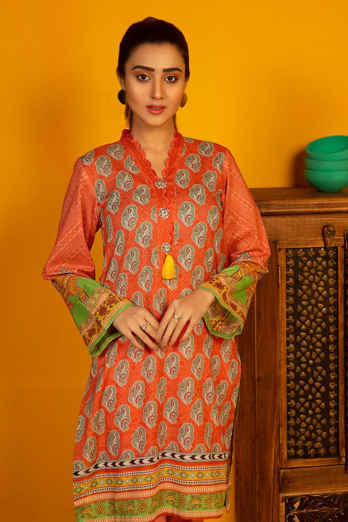 Warda Designer Collection - 2PC Lawn Print (Trouser) 1.75m Shirt 2520108