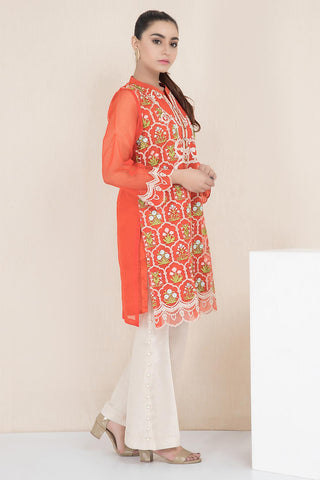 Warda Designer Collection - Formal Embroidered Shirt with Inner LPW1901