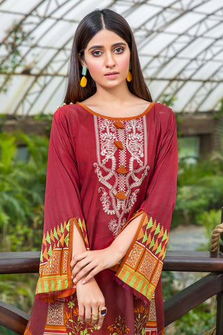 Warda Designer Collection - Single Shirt Lawn Embroidery 130425A