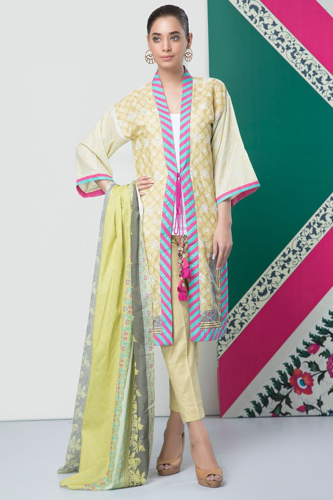 Warda Designer Collection - 3PC Lawn Chikan Kari 389083A
