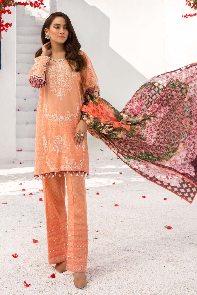 Warda Designer Collection - 3PC Melange Embroidery 3820359