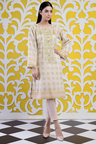 Warda Designer Collection - Single Shirt Lawn Embroidery - (2.5 Meter) 1309476