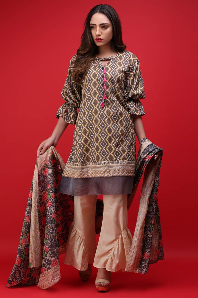 Warda Designer Collection - 2PC Lawn Print 2558088