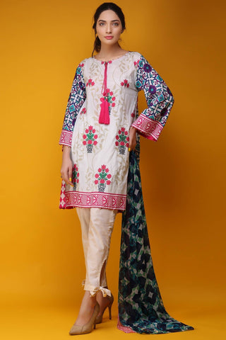 Warda Designer Collection - 2PC Chiffon Lawn Embroidery 2558013