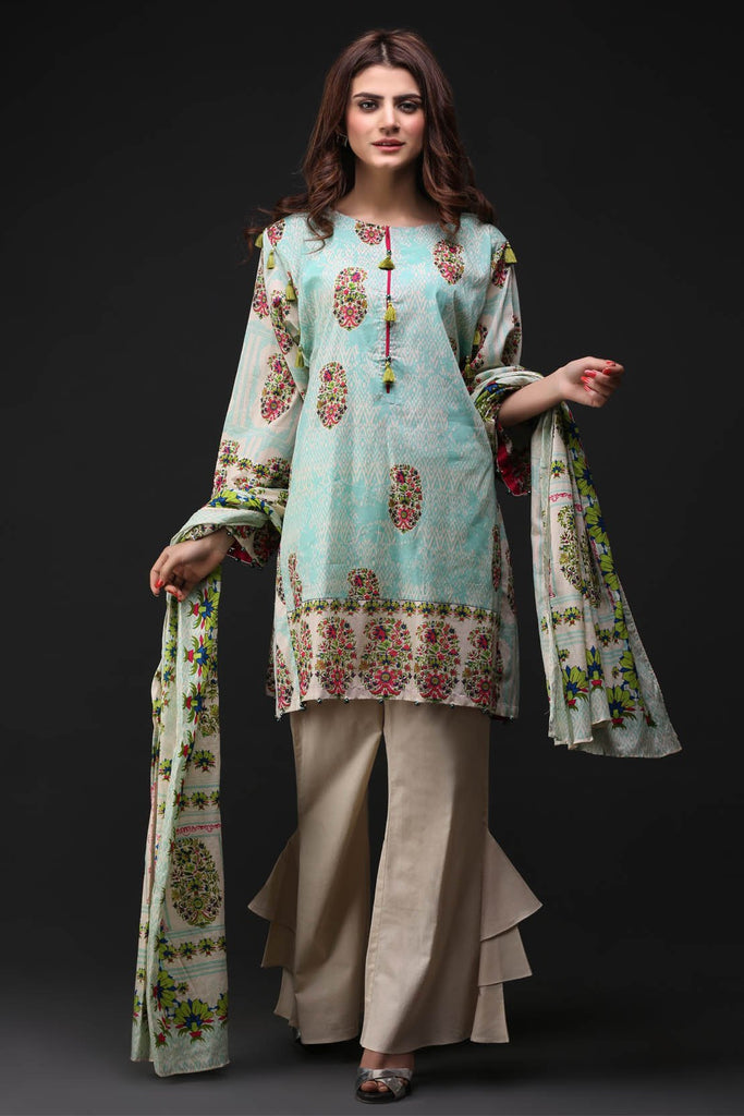 Warda Designer Collection - 3PC Lawn Print 3817755