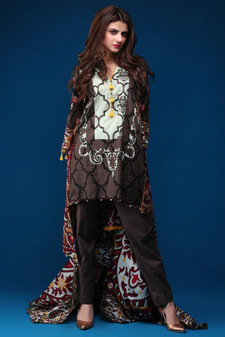 Warda Designer Collection - 3PC Lawn Print 3818128