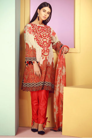 Warda Designer Collection - 3PC Lawn Kashmiri Embroidery with Chiffon Dupatta 3818151
