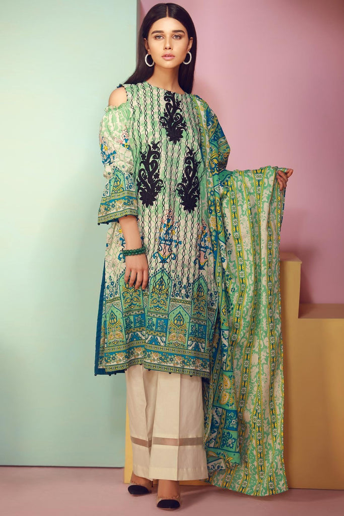 Warda Designer Collection - 3PC Lawn Kashmiri Embroidery  3818049